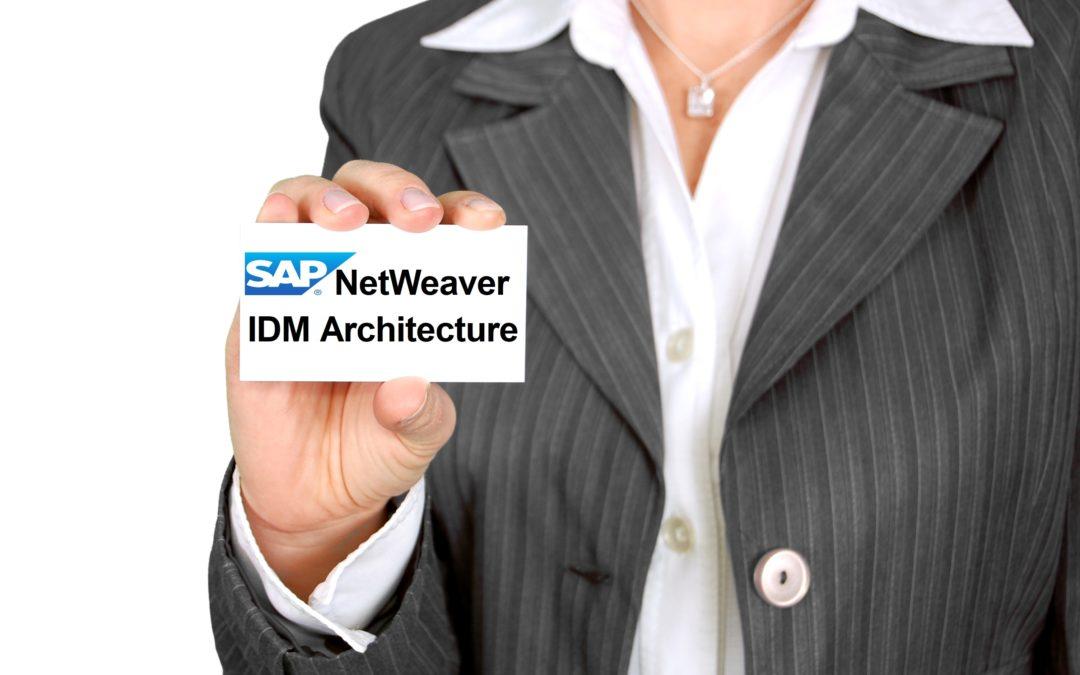 SAP NetWeaver IDM Architecture
